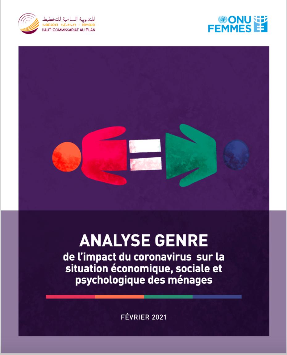 « Analyse genre de l'impact du coronavirus sur la situation économique, sociale et psychologique des ménages »