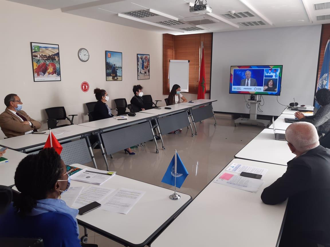Watching party Jeunesse Maroc UNECOSOC YouthForum