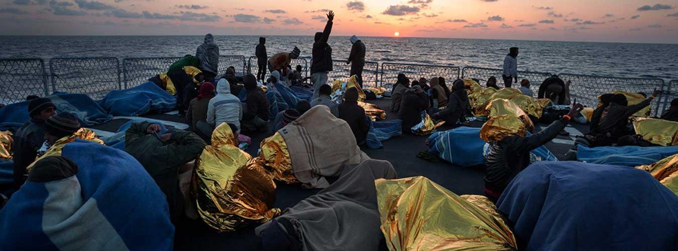 refugiés on boat